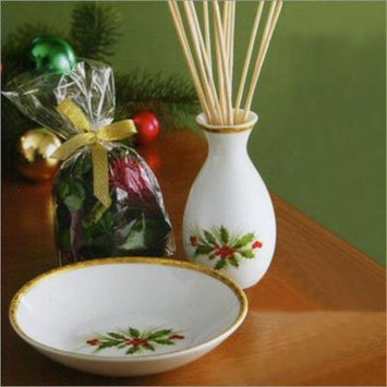 Lenox Gorham 783538 Festive Holly Scented Oil Diffuser and Pot