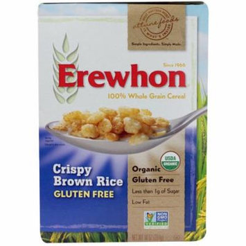 Erewhon Organic Crispy Brown Rice Cereal Gluten Free -- 10 oz pack of 6