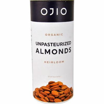 Ojio Organic Unpasteurized Almonds Heirloom -- 8 oz pack of 4