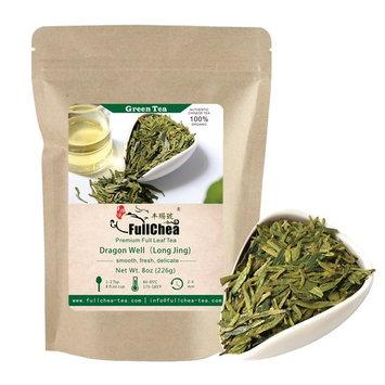 FullChea - Longjing Tea - Dragonwell Tea - Chinese Green Tea Loose Leaf - First Grade - Organic Lung Ching Dragon Well 8oz / 226g