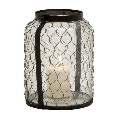 Uma Metal Glass Lantern 9w, 12h