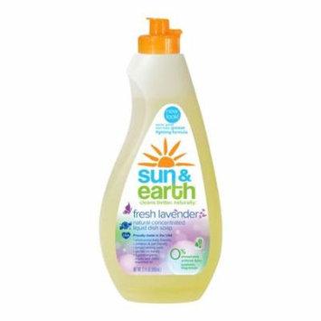 Sun & Earth Dish Soap, Fresh Lavender, 22 Fl Oz