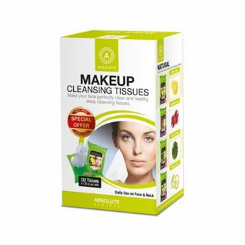 Absolute New York Makeup Cleansing Tissues, Cucumber, Green Team, Vitamin C & Pomegranate, 132 Ct