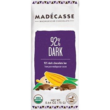 Madecasse Bar,Og2,92% Dark Chocolat 2.64 Oz (Pack Of 12)
