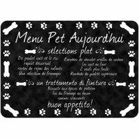 Comfort French Pet Menu Mat