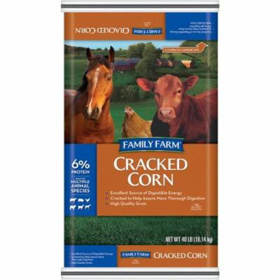 Family Farm Cracked And Cleaned Corn Animal Feed, 40 lb