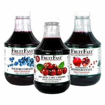 1 Quart Tart Cherry, 1 Quart Wild Blueberry & 1 Quart Wonderful Pomegranate