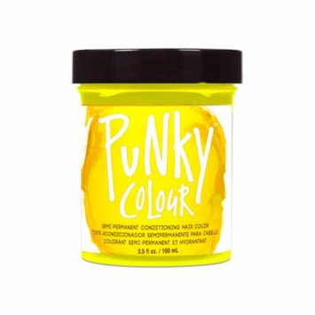 (3 Pack) JEROME RUSSELL Punky Color Semi-Permanent Conditioning Hair Color - Bright Yellow