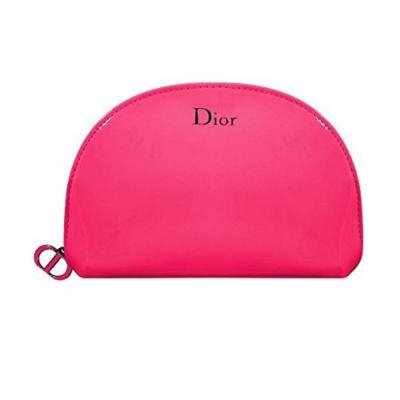 Dior Beaute Pink Patent Makeup Bag Pouch Pink Logo