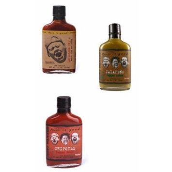 Pain Is Good Hot Sauce Bundle - Louisiana Hot Sauce, Jalapeno Pepper Sauce, Chipotle Pepper Sauce