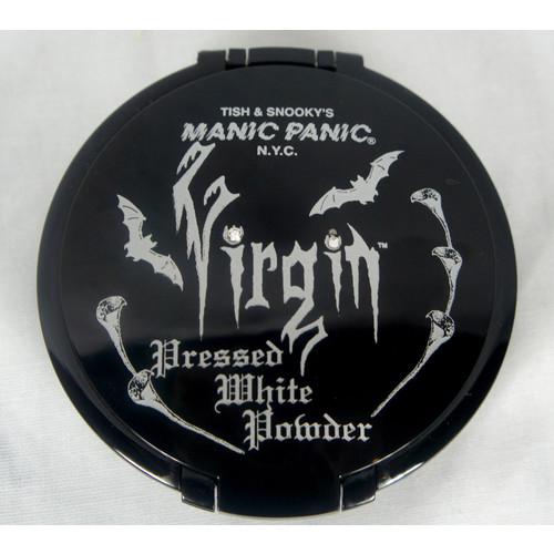 Virgin White Manic Panic Pressed Powder Compact Eye Face Make Up Goth