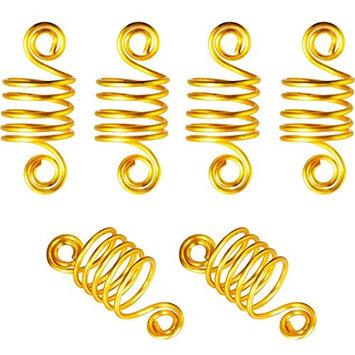 Adjustable Hair Dreadlocks,50 Pieces Coil Hair Wraps Braiding Dread Locks Metal Hair Cuffs