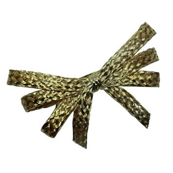 Charles J. Wahba - Wire Mesh Flat Ribbon Barrette Gold plated - from France