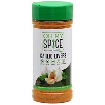 Oh My Spice, Garlic Lovers, Low Sodium, Gluten Free, Vegan, Paleo Friendly Seasoning (5 Oz) (Pack of 3)