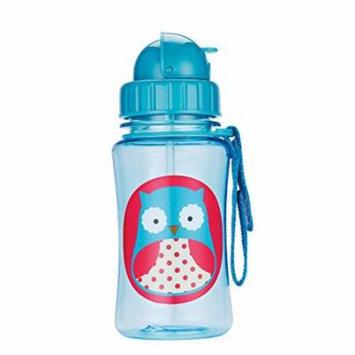 Skip Hop Zoo Little Kid & Toddler Feeding Travel-To-Go Flip Top Straw Bottle,...