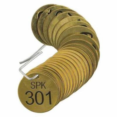 BRADY 23639 Number Tag,Brass,Series SPK 301-325,PK25 G9390342