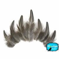 10 Pieces - Natural Black And White Jungle Cock Loose Feather