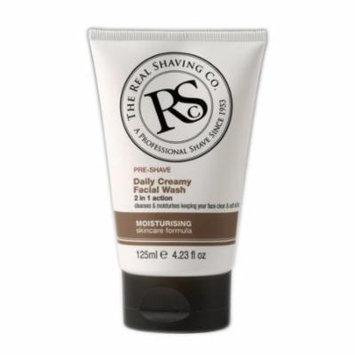 The Real Shaving Co., Pre-Shave Daily Creamy Facial Wash, 4.23 fl. oz.