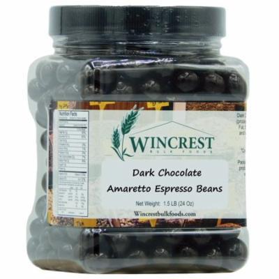 Dark Chocolate Amaretto Espresso Beans - 1.5 Lb Container