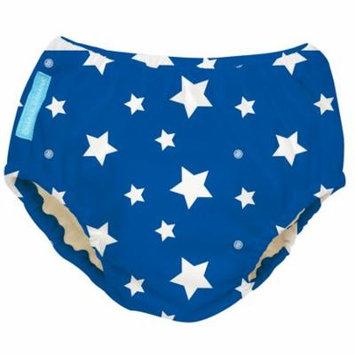 Charlie Banana White Stars Blue X-Large Reusable Swim Diaper