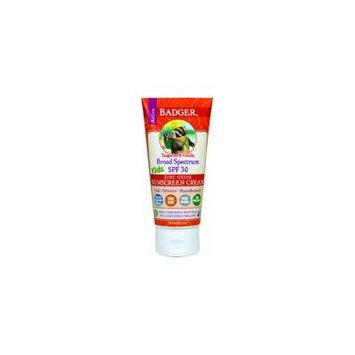 Badger Organic SPF 30 Kids Sunscreen Tangerine & Vanilla 2.9 oz Tube
