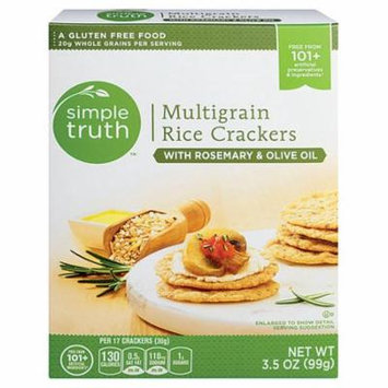 Simple Truth® Multigrain Rice Crackers with Rosemary & Olive Oil -- 3.5 oz pack of 3