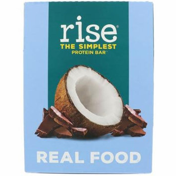 Rise Foods Protein Bar Gluten Free Chocolatey Coconut -- 12 Bars pack of 4