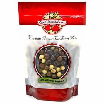 SweetGourmet Chocolate Covered Espresso Beans Blend - White, Milk & Dark Chocolate, 1Lb