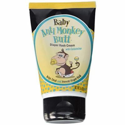 Baby Anti Monkey Butt Diaper Rash Cream w Calamine 3 Oz