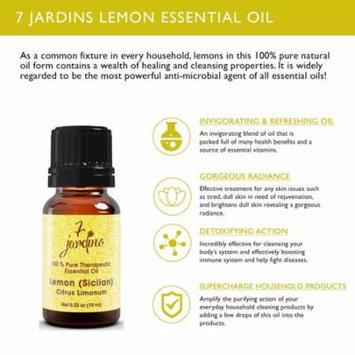 7 Jardins Therapeutic Essential Oil 100% Pure Lemon (Siciian) Citrus Limonum