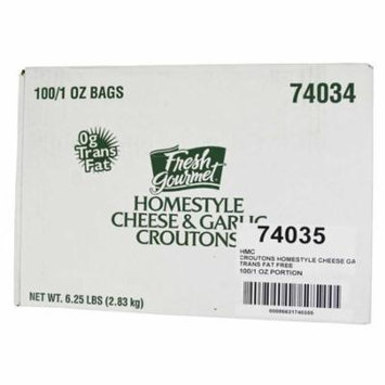 100 PACKS : Homestyle Cheese and Garlic Croutons, 1 Ounce.