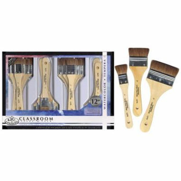 Royal & Langnickel Classroom Value Pack Natural Hair Large Area Brush Collection