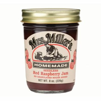 Mrs. Miller's No Sugar Seedless Red Raspberry Jam 8 oz. (2 Jars)