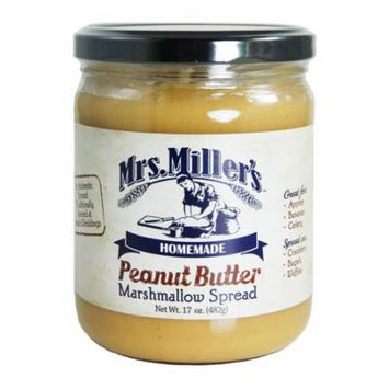 Mrs. Miller's Peanut Butter Marshmallow Spread 17 oz. (2 Jars)