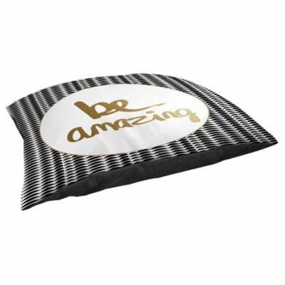 Thumbprintz Be Amazing Black and Gold Fleece Pet Bed