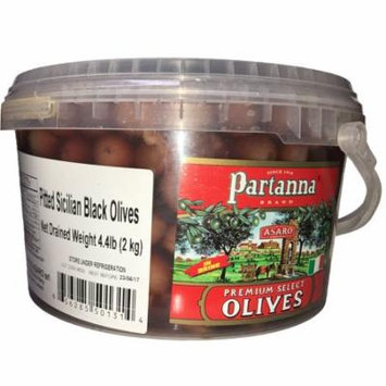 Partanna Premium Select Sicilian Pitted Black Olives 4.4 Lbs