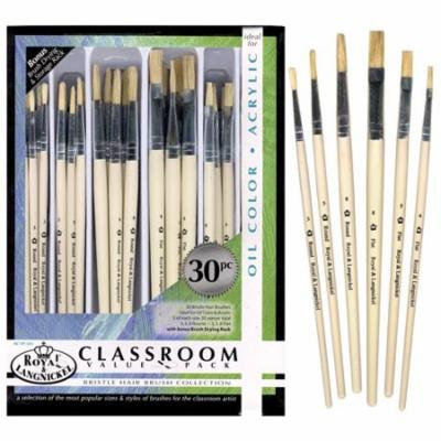 Royal & Langnickel Classroom Value Pack Bristle Hair Brush Collection