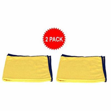 Starfiber Eco-friendly Yellow Miracle Cleaning Cloth for Kitchen Bathroom and Home (2 Pack)