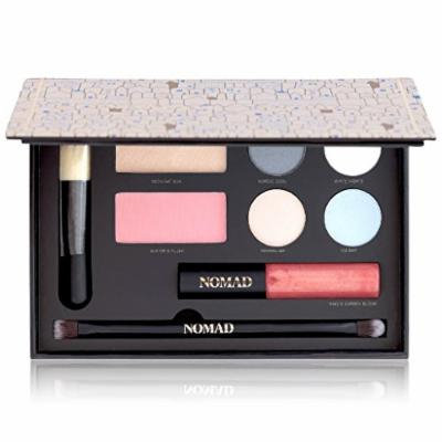 NOMAD x Stockholm All-In-One Makeup Palette with Face Brush, Highlighter, Blush, Eyeshadows, Lipbalm & Eye Brush