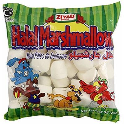 Ziyad Halal Marshmallows- 4 Pack of 8.82 Ounce Bags