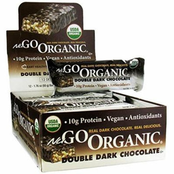NuGo Nutrition, Organic Double Dark Chocolate, 12 Organic Protein Bars, 1.76 oz