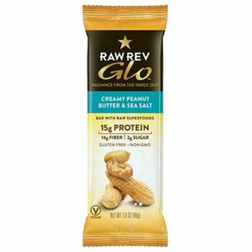 Raw Rev Glo Protein Bars - Creamy Peanut Butter and Sea Salt, 1.6 Ounce, 12 Count