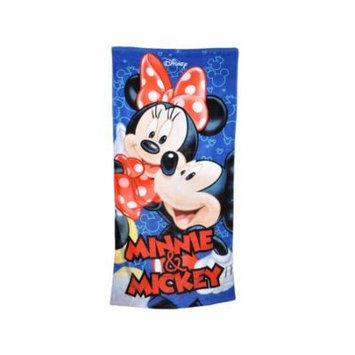 Mickey & Minnie Mouse Kids Bath & Beach Towel 58x28