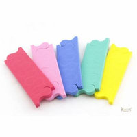 100 Pairs 4-Hole Pedicure Toe Separator for Salon Nail Spa - 7mm thick 7₵/Pair
