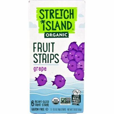 Stretch Island Organic Fruit Strips Grape -- 6 Pocket-Sized Fruit Strips pack of 6