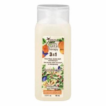 Belcam Bath Therapy 3-IN-1 Body Wash, Bubble Bath And Shampoo Honeysuckle & Peach, 3.3 FL OZ
