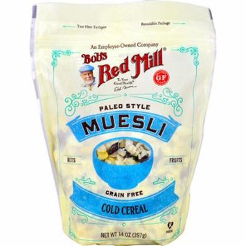 Bob's Red Mill Paleo Style Muesli Cold Cereal Grain Free Nuts Fruits -- 14 oz pack of 6