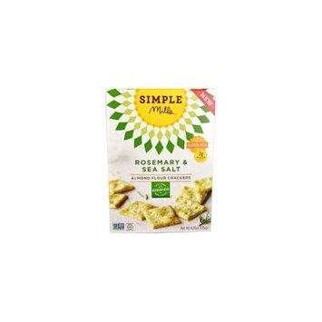 Simple Mills Almond Flour Crackers Gluten Free Rosemary & Sea Salt -- 4.25 oz pack of 1