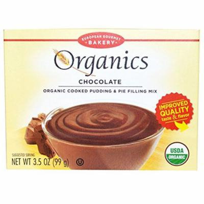 European Gourmet Bakery, Organics, Cooked Pudding & Pie Filling Mix, Chocolate, 3.5 oz pack of 2