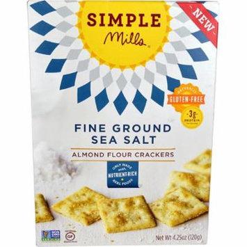 Simple Mills Almond Flour Crackers Gluten Free Fine Ground Sea Salt -- 4.25 oz pack of 2